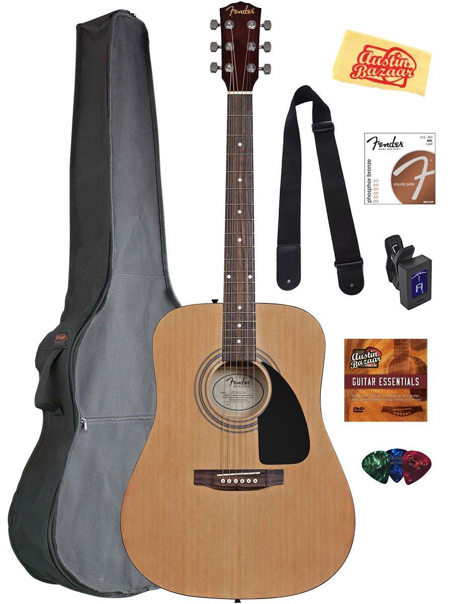 Fender Acoustic Guitar Bundle With Gig Bag - High Note Music